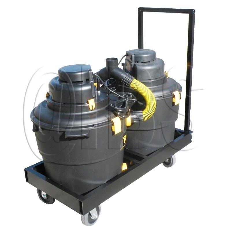 645B3H Northrock Dual Vacuum System for Ceiling Grinder